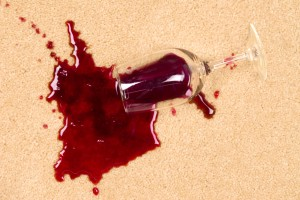 wine stain on carpet