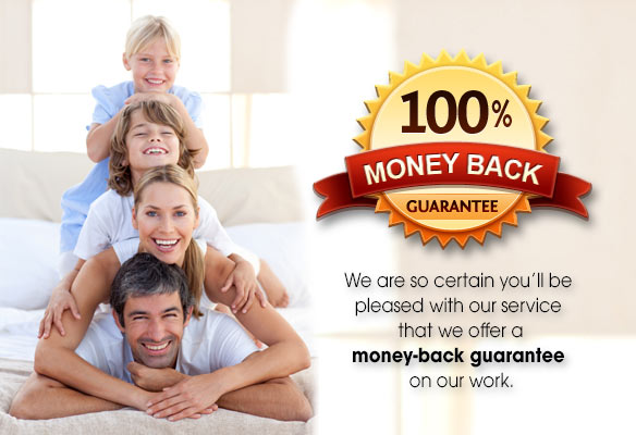 We are so certain you'll be pleased with our services that we offer a money-back guarantee on our work